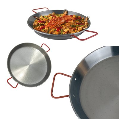 Traditional Carbon Steel Paella Pans MADE IN SPAIN.